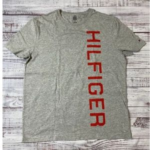 Tommy Hilfiger Vertical Spell Out Logo Grey